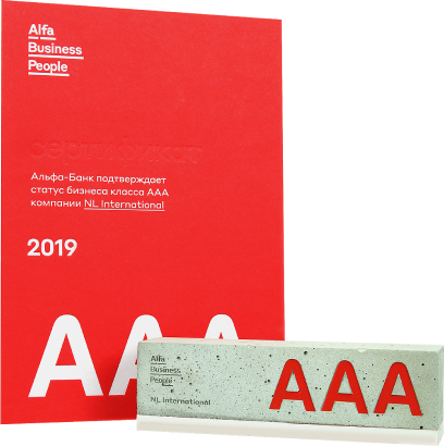 Альфа-Банк подтверждает статус бизнес класса ААА компании NL International